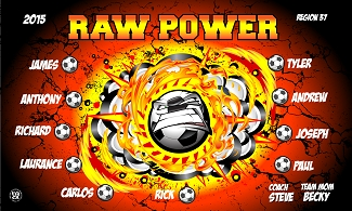 B2330 Raw Power 3x5 Banner