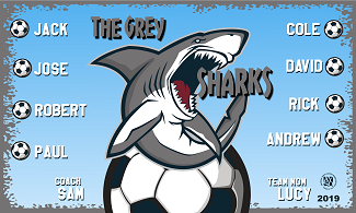 B2522 The Grey Sharks 3x5 Banner
