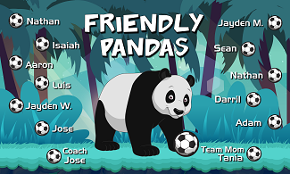 B2530 Friendly Pandas 3x5 Banner