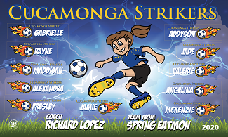 B2655 The Cucamonga Strikers 3x5 Banner