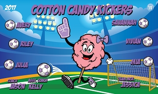 B2065 Cotton Candy Kickers 3x5 Banner
