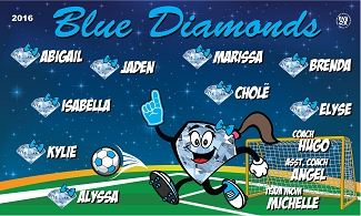 B1830 Blue Diamonds 3x5 Banner