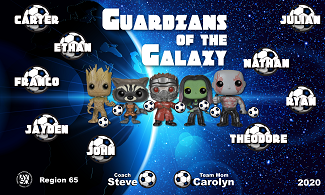 B2687 Guardians of the Galaxy 3x5 Banner