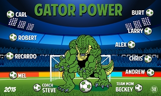 B1583 Gator Power 3x5 Banner