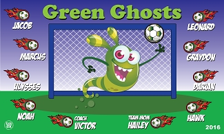 B1843 Green Ghosts 3x5 Banner