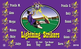 B1708 Lightning Strikers 3x5 Banner