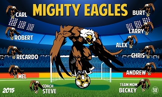 B1554 Mighty Eagles 3x5 Banner