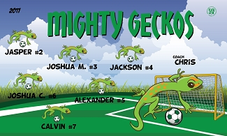 B2117 Mighty Geckos 3x5 Banner