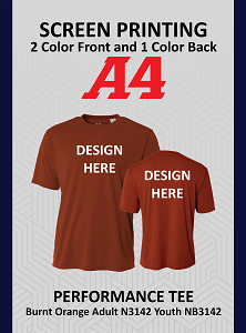 Performance Tee Specialty Colors Youth & Adults