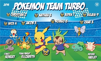 B1731 Pokemon Team Turbo 3x5 Banner