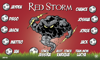 B2587 Red Storm Banner