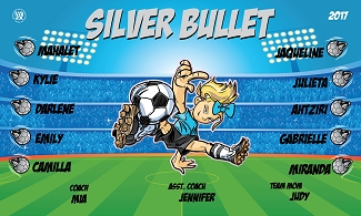 B2044 Silver Bullets 3x5 Banner