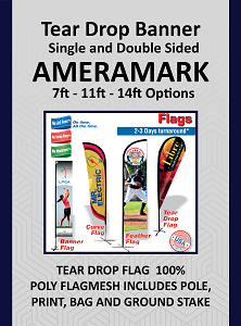 Tear Drop Banners 7ft to 14ft