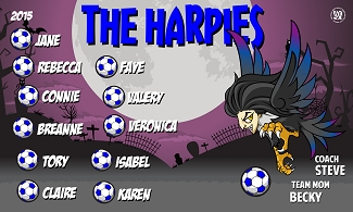 B1652 The Harpies 3x5 Banner