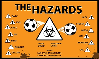 B2046 The Hazards 3x5 Banner