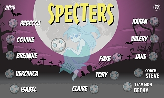 B1650 The Specters 3x5 Banner