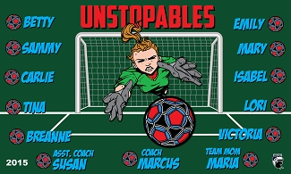 B1553 Unstopables Girls 3x5 Banner