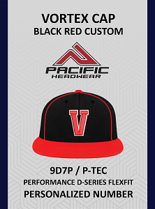 Vortex 9D7P Cap Black Red Personalized Number