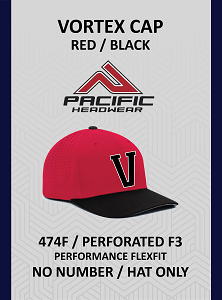 Vortex 474F Cap Red Black (No Number)
