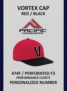 Vortex 474F Cap Red Black Personalized Number