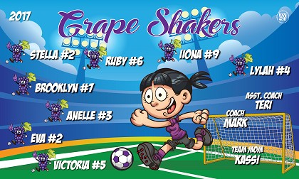 B2165 Grape Shakers 3x5 Banner