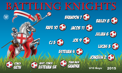 B1557 Battling Knights 3x5 Banner