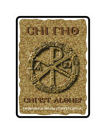 Chi-Rho 18'x24' Metal Sign