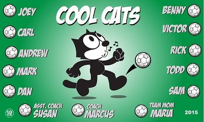 B1576 Cool Cats 3x5 Banner