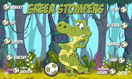 B1581 Green Stompers Gators 3x5 Banner