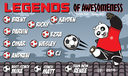 B1834 Legends Of Awesomeness 3x5 Banner