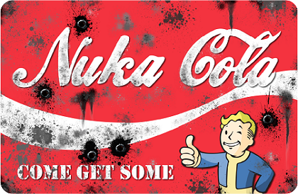 Nuka Cola 16'x24' Metal Sign