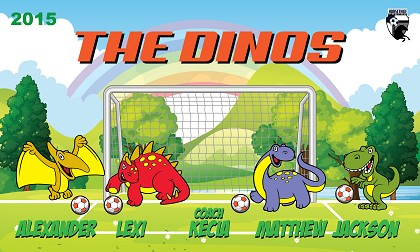 B1611 The Dinos 3x5 Banner