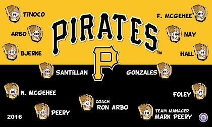 B1427 Pirates Baseball 3x5 Banner