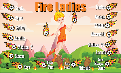 B2614 Fire Ladies 3X5 Banner