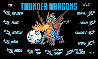 B2656 Thunder Dragons 3x5 Banner