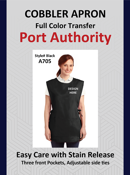 Cobbler Apron Easy care with Stain Release (Pocket Logo Only)