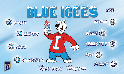 B2544 Blue Icees 3x5 Banner