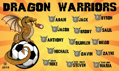 B1274 Dragon Warriors 3x5 Banner