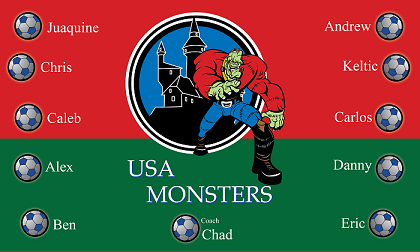 B1065 The Monsters 3x5 Banner