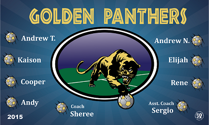 B1286 Golden Panthers 3x5 Banner