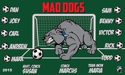 B1533 Mad Dogs 3x5 Banner