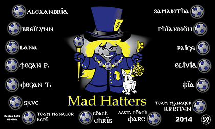 B1108 Mad Hatters Ball 3x5 Banner