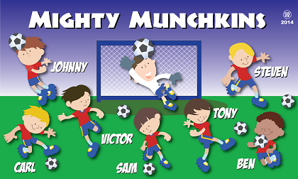 B1448 Mighty Munchkins 3x5 Banner