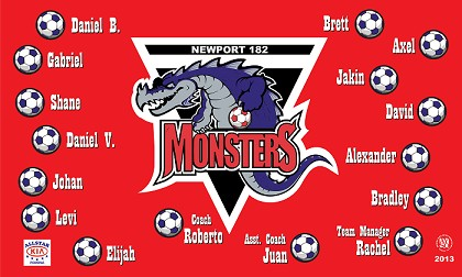 B1117 Monsters 3x5 Banner