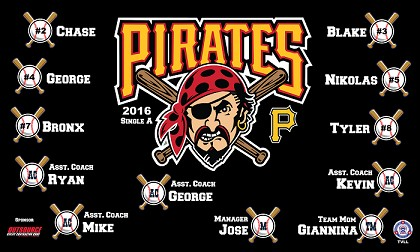 B1428 Pirates Baseball 3x5 Banner V2