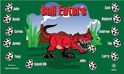 B1188 Ball Eaters 3x5 Banner