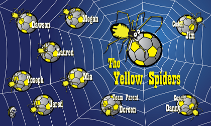B1214 The Yellow Spiders 3x5 Banner