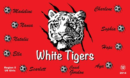 B1233 White Tigers 3x5 Banner