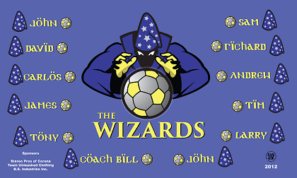 B1235 The Wizards 3x5 Banner